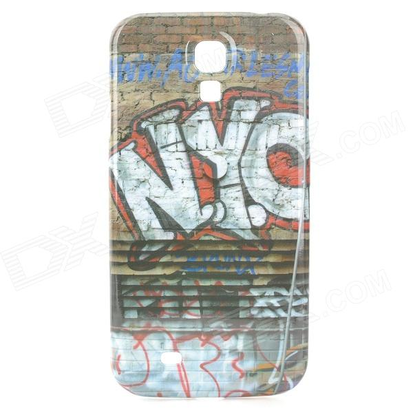A-336 Graffiti Style Protective PC Back Case for Samsung Galaxy S4 i9500 - Multicolor protective cute spots pattern back case for samsung galaxy s4 i9500 multicolored