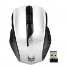 Jiete 3236 2.4GHz Wireless 1000~1600DPI Optical Mouse - Black + Antique Silver