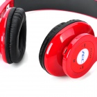 AEC BQ605 Wireless A2DP Stereo CSR Bluetooth V2.1+EDR Headset w/ Micro SD Slot / FM Radio - Red