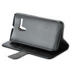Protective PU Leather Case w/ Card Holder Slots for MOTO G - Black
