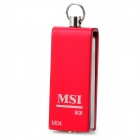 MSI M-04 Aluminum Alloy Water Resistant Rotary USB 2.0 Flash Drive - Red + Silver (8GB)