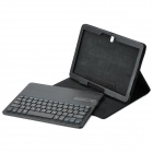 Detachable Bluetooth V3.0 64-Key Keyboard w/ Case for Samsung Note 10.1 P600 / P601 - Black