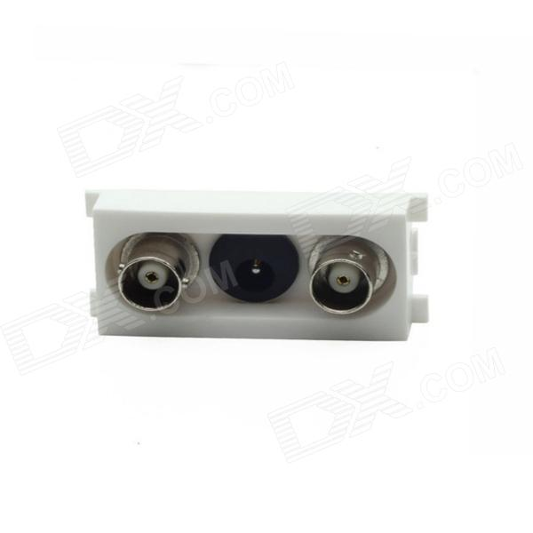 Losiya K86-911 2 BNC Female + DC Male Welding Module for Q9 Monitor Connector - White (86 Panel) bnc dc male to bnc dc female monitoring video extension cable black 5m