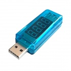 "Litong 0.4"" LED 4-Digit Red Display USB Power Charger Voltage Current Tester - (3~8V / 0~3A)"