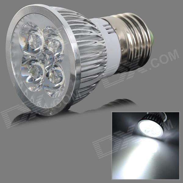 E27 4W 400lm 4500K 4 LED-hvitt lys Dimming Spotlight - Silver (AC 110V)
