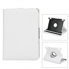 360 Degree Rotatable Protective PU Leather Case for Amazon Kindle Fire HDX7 - White
