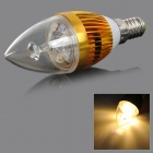HESION HS01003 E14 3W 270lm 3000K 3-LED Warm White Light Bulb - Golden (AC 85~265V)