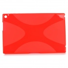 """X"" Style Ultrathin Protective TPU Back Case for Nokia Lumia 2520 - Translucent Red"