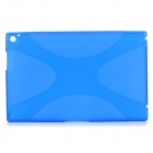 """X"" Style Ultrathin Protective TPU Back Case for Nokia Lumia 2520 - Translucent Blue"