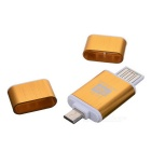 OTG USB Micro SD/TF Card Reader - Golden