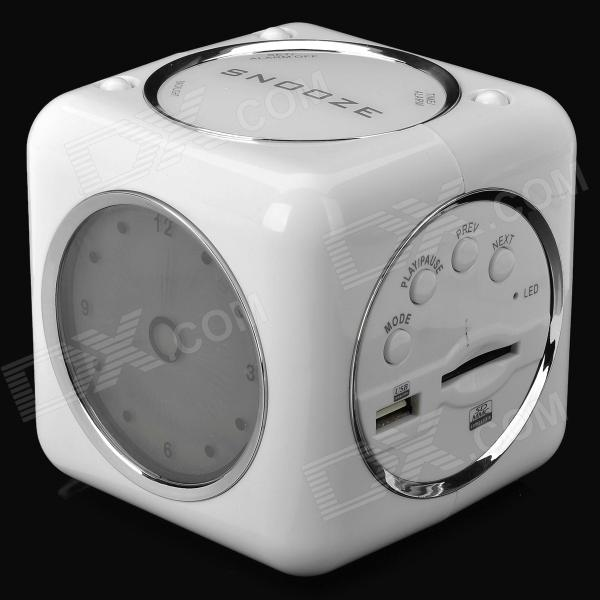 SAYIN SY-320 Multifunctional Radio w/ FM / USB / SD / MP3 - White mp3 плеер mp3 player usb mp3 4 8 16 32 aaa mp3 fm