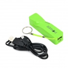 5V «3300mAh» Micro USB Li-ion batteri strøm Bank m / REM + kabel for Samsung - Green + Black