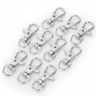 Zink legering nyckelring Set - Silver (10 St)