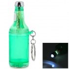 Beer Bottle Shaped LED Lamp + Bottle Opener Keychain - Green