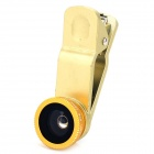 3-in-1 Clip Style Wide Angle + Macro + Fish Eye for IPHONE / Samsung / HTC / Sony - Golden
