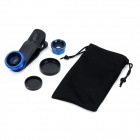 M-132 3-in-1 Clip Style Wide Angle + Macro + Fish Eye for IPHONE / Samsung - Black