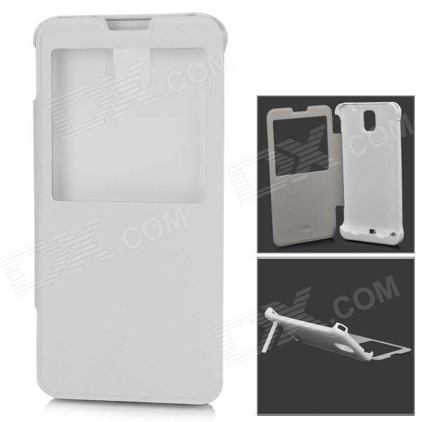 4200mAh External Battery Back Case Cover Stand for Samsung Galaxy Note 3 N9000 - White 20m waterproof bag case for 5 7 cell phone samsung galaxy note 3 n9000 white