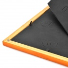 "XK-01 Square Shape Pin Wood 5"" x 7"" Photo Frame - Orange + Golden + Multi-Colored"