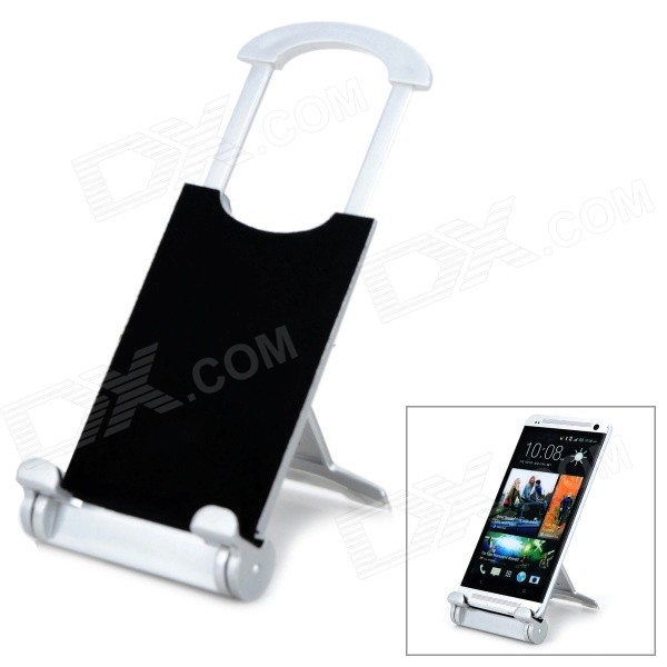Universal Desktop Display Stand para Tablet PC / Celulares - Preto + Prata