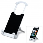Universal Desktop Display Stand for Tablet PC / Mobile Phones - Black + Silver