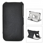 ZQ-821 Protective PU Leather Case Cover Stand for Samsung Galaxy S4 i9500 - Black