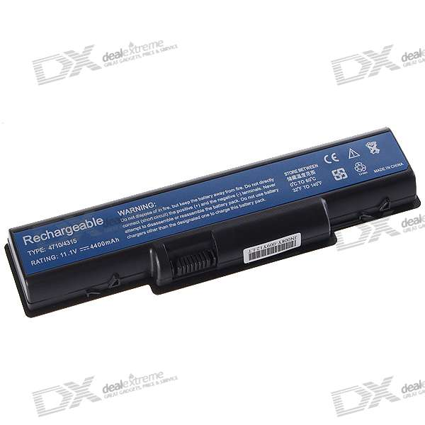 Acer 4710 Compatible 4400mAh Lithium Battery Pack for Acer Aspire 4710G/Aspire 4310 + More