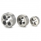 1/4-20, 5/16-18, 3/8-16 UNC Screw Thread Round Die Tools (3 PCS)