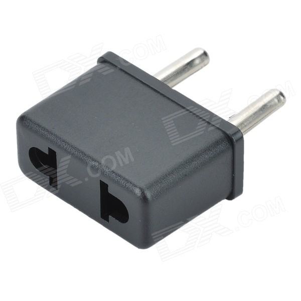 KY-001 Universal ABS EU-Plug Adapter - Black