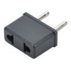Portable US to EU Plug Power Adapter - Black