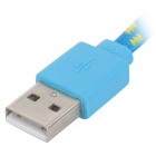 USB 2.0 to Micro USB Data Charging Woven Mesh Nylon Cable - Blue