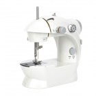 Electric / Manual Sewing Machine w/ Pedal - White (4 x AA / EU Plug)