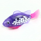 Flash Transparent Electronic Fish Pet Toy Robot Fish - Pink + Purple (2 x L1154)