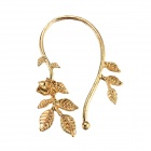 eQute EPEW15C3 Fashion Leaf Shaped Golden Metal Cuff Ear