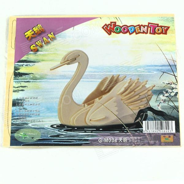 DIY Wooden Assembling Model - Swan