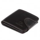 Chase boom WJ320 Fashionable PU Leather Folding Men's Wallet Purse - Brown Black