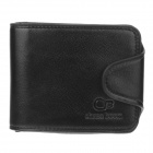 Chase boom WJ320 Fashionable PU Leather Folding Men's Wallet Purse - Black
