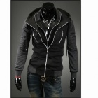 WY33 Fashionable Slim Fit Coat - Dark Grey  (XL)
