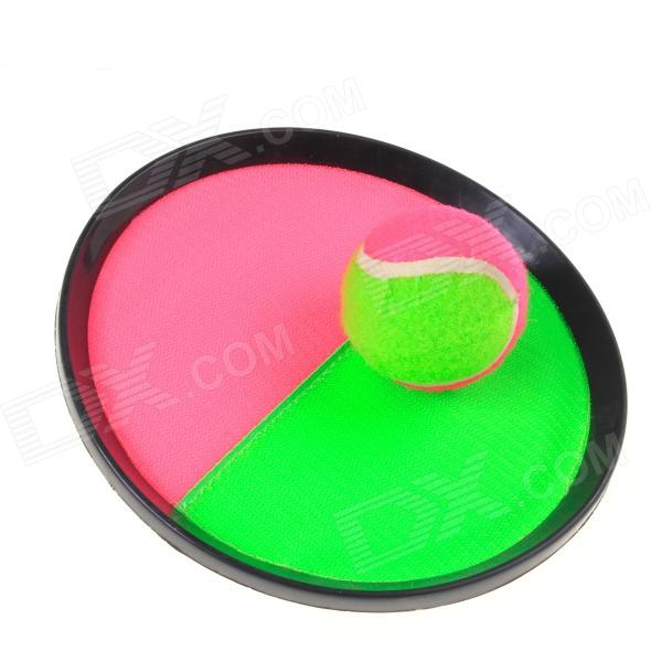 Outdoor Sport Stick Target Ball w/ Two Palm Rackets- Green + Pink + Black