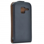 Stylish Flip-open Protective PU Leather Purse Case for Samsung Galaxy Ace 2 i8160 - Black