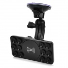 A8 5V 1000mA QI Carregador sem fio w / Car Charger + Holder - Preto