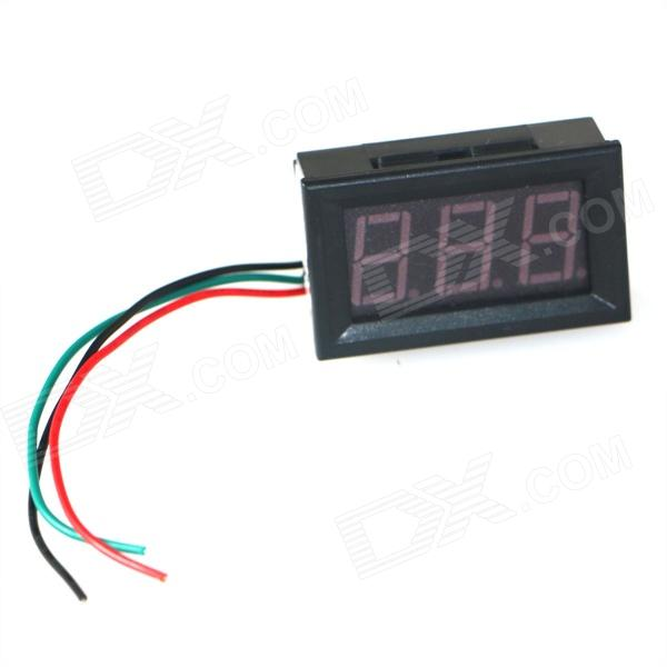 "Produino ST Master Chip 0.56"" LED DC 3-Digital Ammeter - Black (DC 0~50A)"