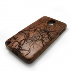 Carved Birds on Tree Pattern Protective Wooden Back Case for Samsung Galaxy Note 3 N9000 - Brown