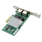 Winyao WYI350-T2 PCI-e X4 Dual Port Gigabit Server Network Card Adapter - Green