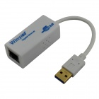Winyao USB1000T USB 3.0 to RJ45 10/100/1000M Ethernet Adapter Network Card - White