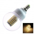 E14 6W 220lm 2500K 128 x SMD3528 LED Warm White Energy Saving Light Bulb - White (AC 220~240V)