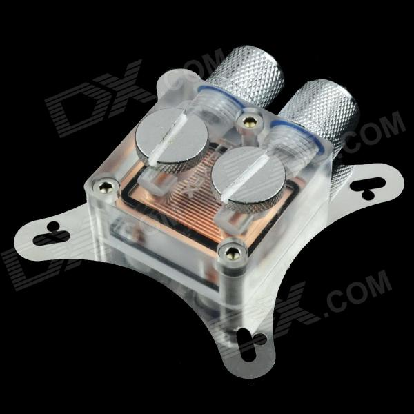 WT-022 53~62mm Hole Distance Graphics Card Cooling Head - Silver + Copper + Transparent small hole distance of gpu water cooling head of developing card