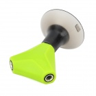 YGH-380 ABS 2-3.5 mm øretelefon Splitter / stå for Samsung / IPAD + mer - Green + Black
