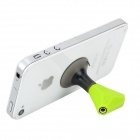 YGH-380 ABS 2-3.5mm Earphone Splitter / Stand for Samsung / IPAD + More - Green + Black