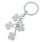 Fashion Flower Style Stainless Steel Keychains - Silver + White + Colorful