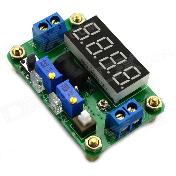 Jtron DC 4.5~24V to DC 0.9~20V Constant Voltage / Current Buck w/ 4-Digit Blue LED Display - Green